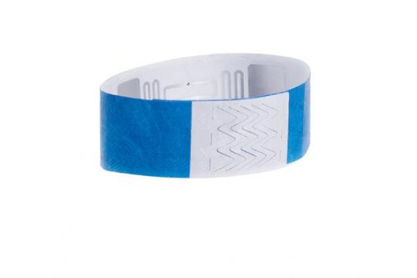 One Time Use UHF Alien H3 9662 Printable RFID Paper Wristband For Festival